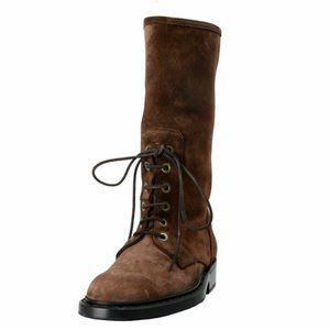 Dolce & Gabbana Men's Brown Suede Lace Up Boots
